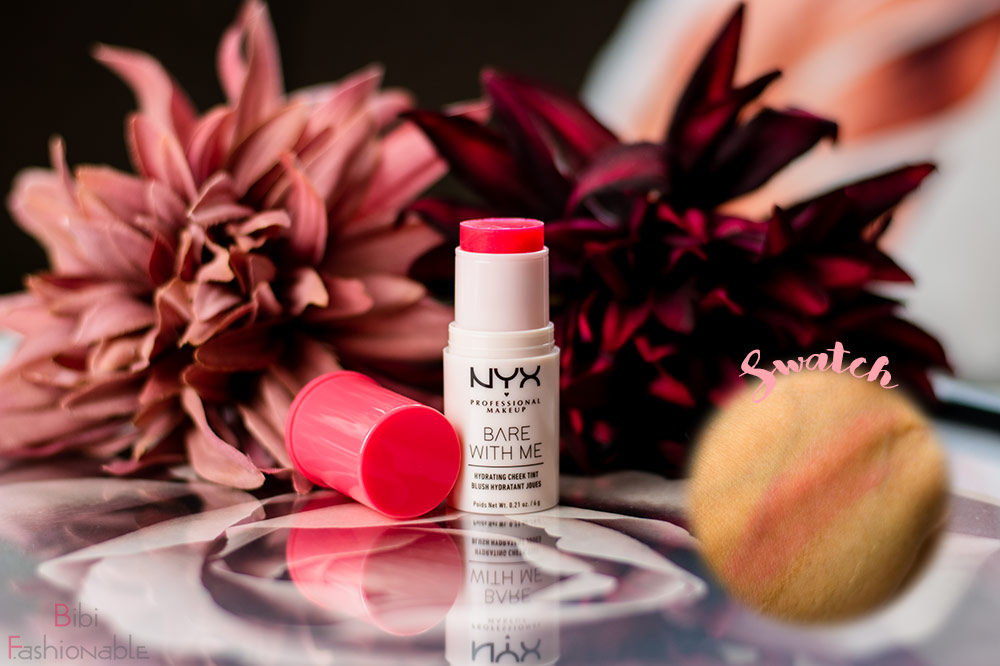 NYX Professional MakeUp Bare with Me Hydrating Cheek Tint inkl Swatch
