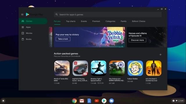 Tampilan Chrome OS Official dengan Play Store di laptop Windows  Gaptogeek