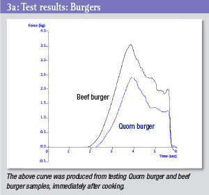Test results graph - burgers