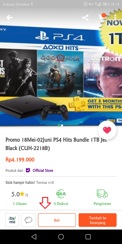 beli ps4 di multi game shop tokopedia