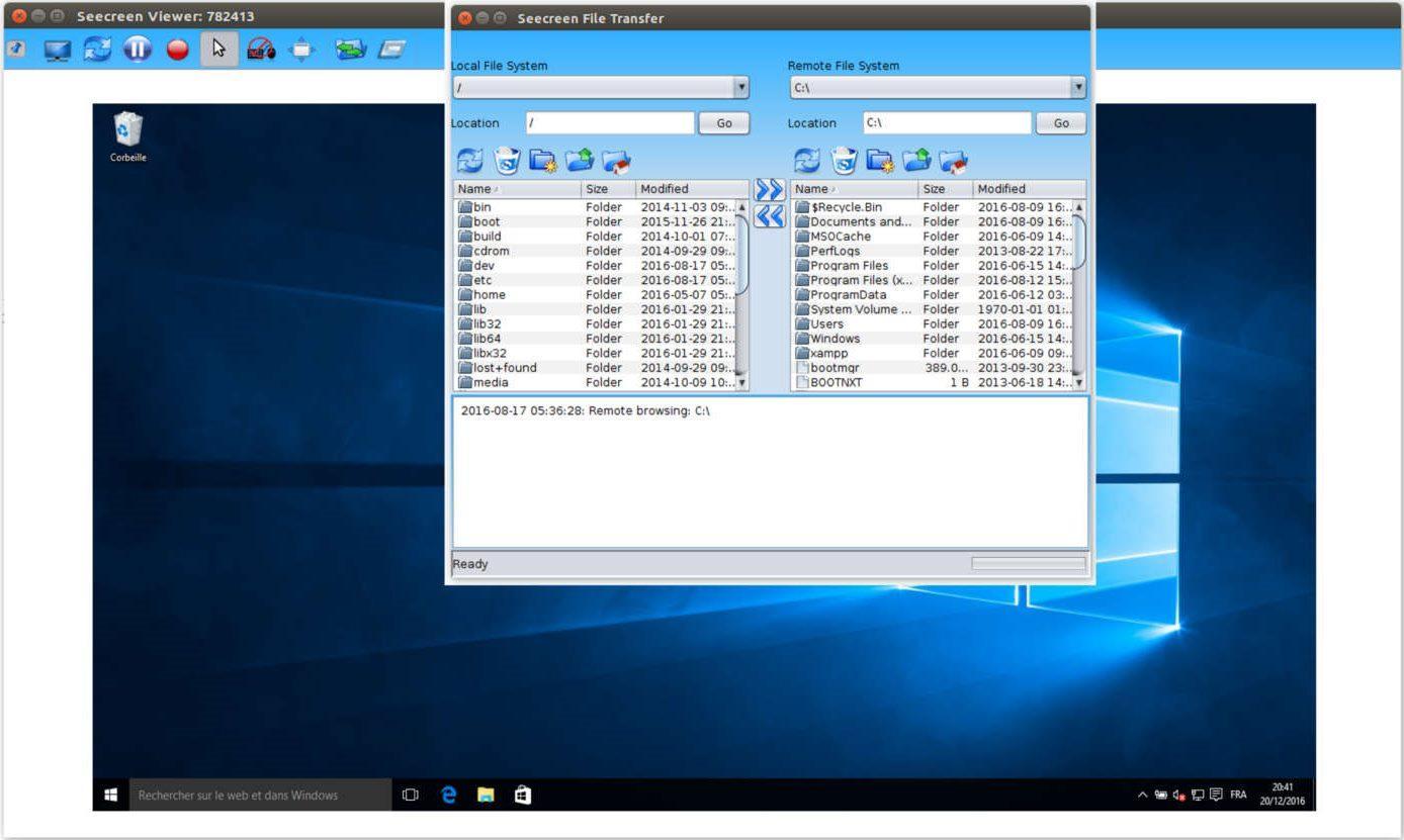 Seecreen - Bilgisayarı Uzaktan Kontrol Etmek İçin 20 Program