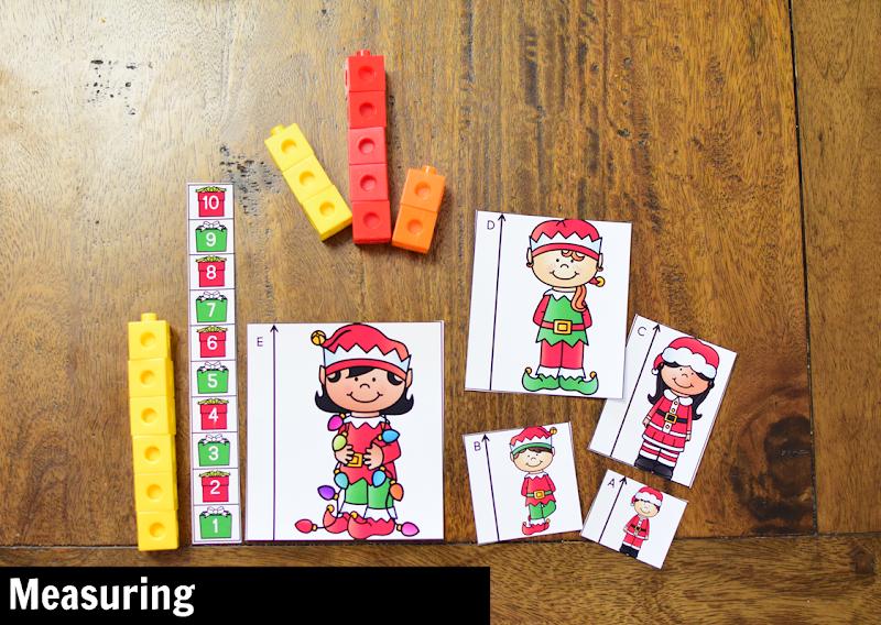 Kindergarten Math Center for December: Measuring