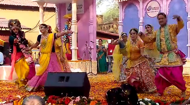 The Holi of the flowering flowers of the Surajkund fair chopping on the choupal binded together - the audience became aware!