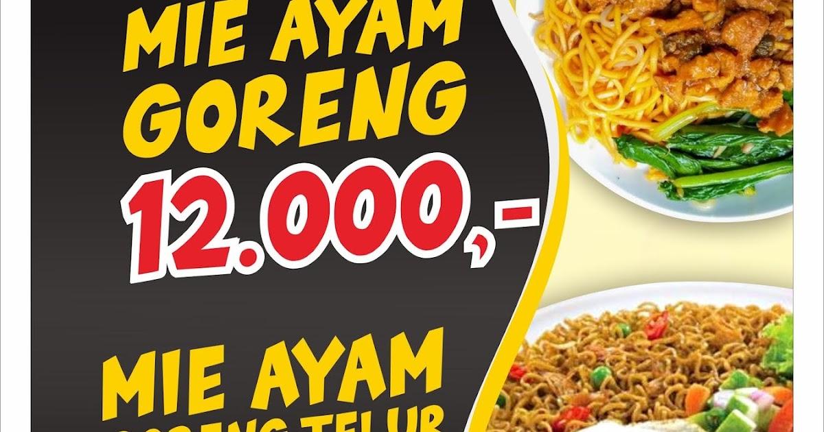 Contoh Spanduk Mie Ayam Goreng & Mie Ayam Goreng Telur ...
