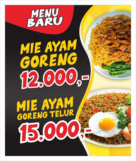 Contoh Banner Mie Ayam Goreng