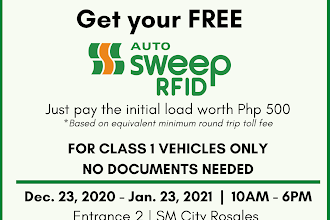 FREE Autosweep RFID at SM City Rosales