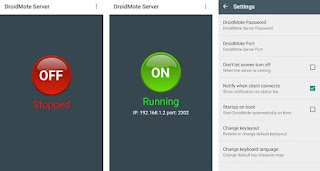 App DroidMote Server