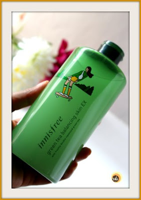 Innisfree Green Tea Balancing Skin EX Review on Natural Beauty And Makeup blog