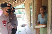 Warga Banten Terima Bantuan Beras Dari Baharkam Polri