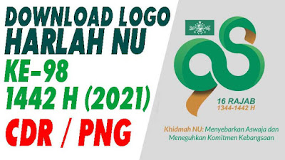 DOWNLOAD LOGO HARLAH NU Ke-98 TAHUN 1442 H (2021) - FORMAT CDR PNG BISA DIEDIT