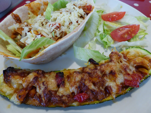 Mexican Tortillas and stuffed courgettes Old El Paso Kit