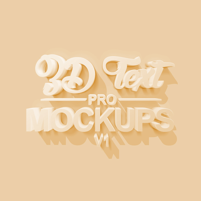 Pro 3D Text Mockups Psd Free Download