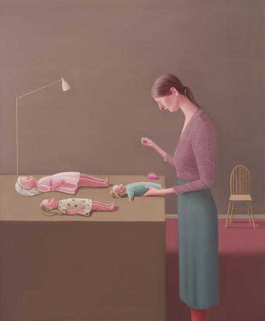 Prudence Flint, pinturas, imagenes de soledad femenina bonitas, chidas de arte inspirador, mujer, muñecas,
