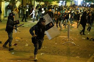 Demonstrasi di Lebanon, Sunni dan Syiah Saling Bentrok