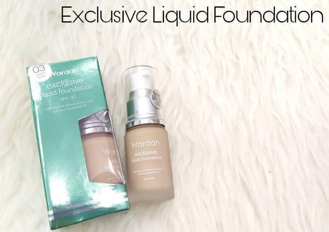 Foundation Exclusive Liquid untuk kulit berminyak dan berjerawat
