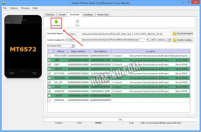 Klik Download sp flashtool