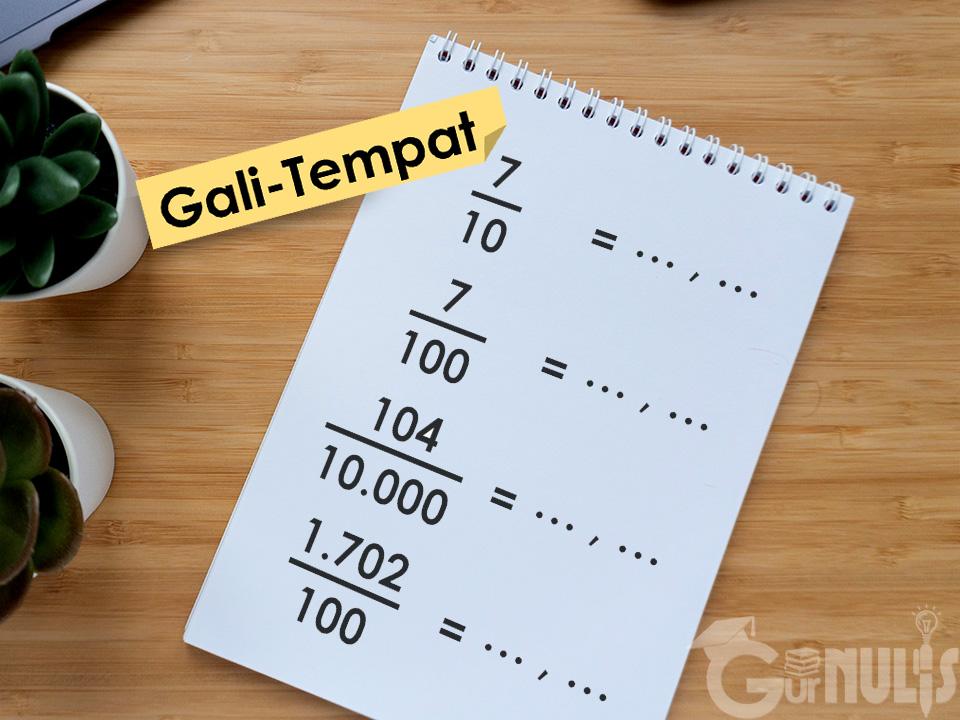 Gali-Tempat, Cara Mudah Mengubah Pecahan Biasa ke Desimal, www.gurnulis.id