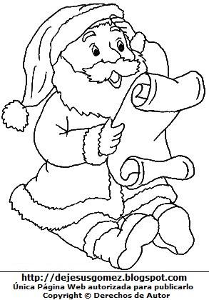 Dibujos Para Imprimir De Papa Noel. Free Dibujo Para Colorear Pap ...