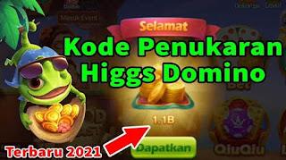 Kode Penukaran Higgs Domino Terbaru 2021