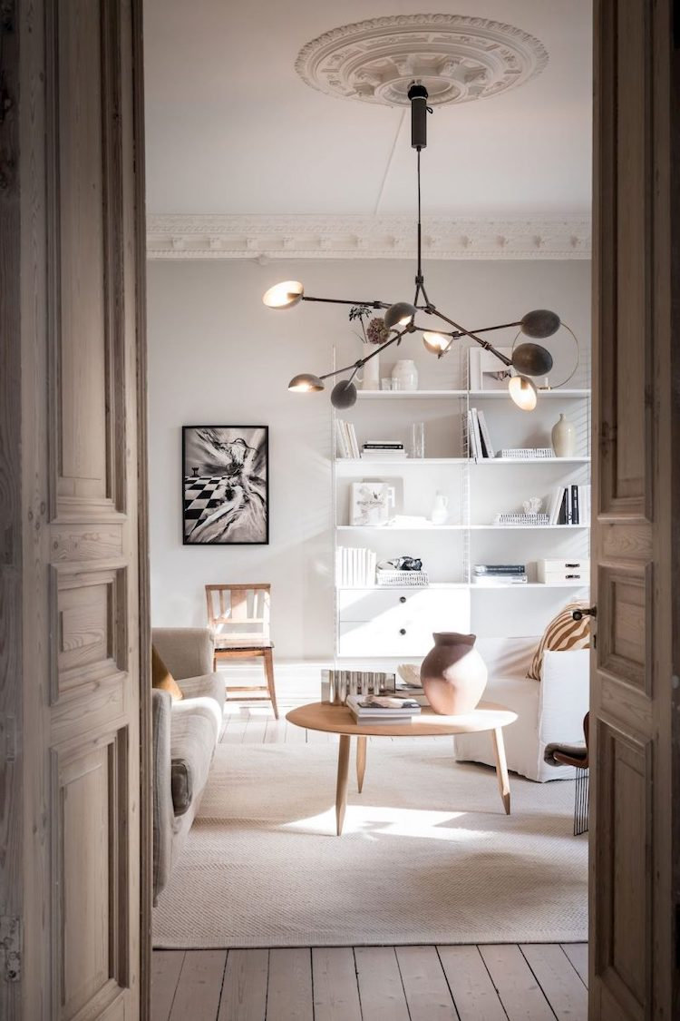 A Beautiful Swedish Home with Staggeringly High Ceilings