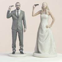 figurines gâteau de mariage personnalisées impression 3D