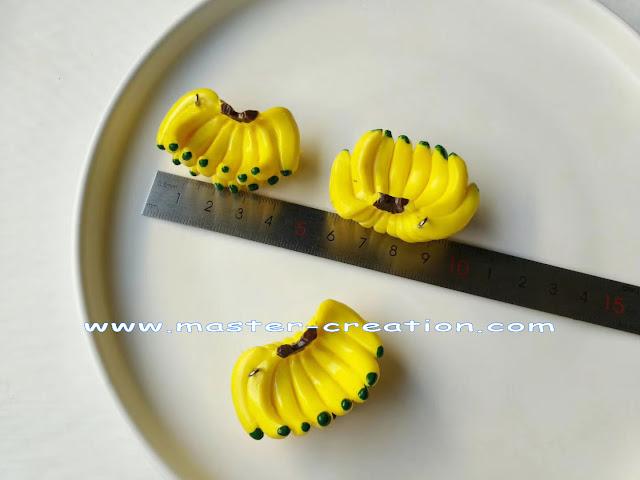 mini banana keychain pendant
