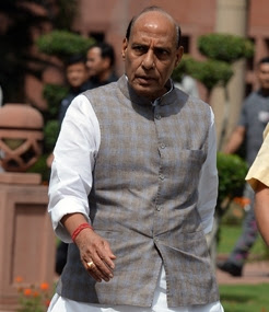 NewsTimes - Rajnath Singh to arrive in trouble-torn Kashmir on Saturday