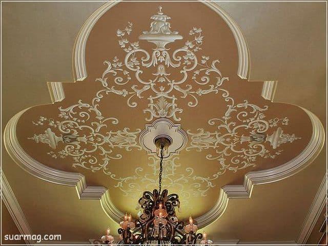ديكورات جبس اسقف راقيه كلاسيك 10   Classic Gypsum Ceiling 10