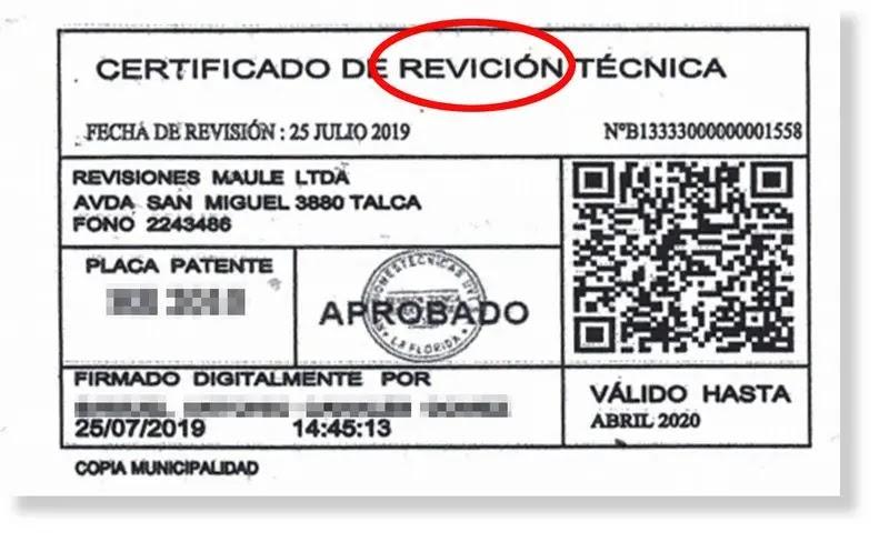 Tres errores que delataron a falsos certificados de revisión técnica