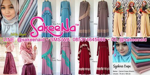 Gambar Model Baju Muslim Lebaran Wanita