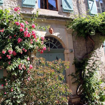 Doorway with roses