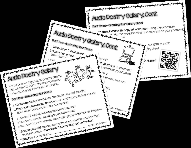 Hoots N' Hollers: Audio Poetry Gallery & QR Code Countdown