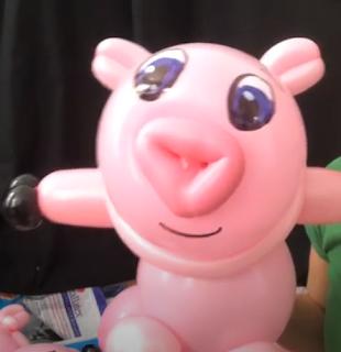 Anleitung für ein Ballontier Schwein.