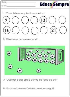 Atividade  futebol