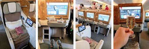 Emirates Business Class 777 seat