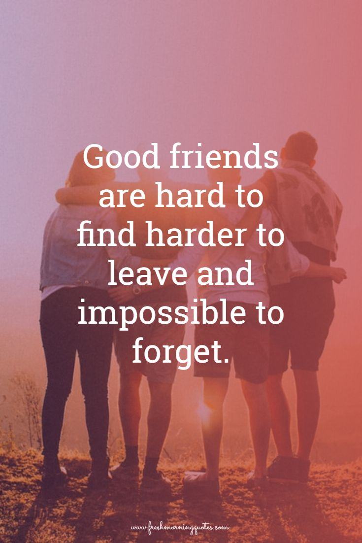 good friends are hard to find Best Friends Forever Quotes