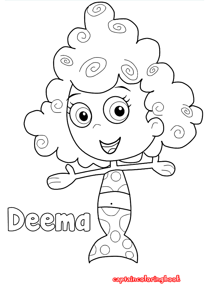 goby coloring book - Bubble Guppies Coloring Pages Goby