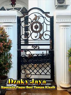 Pagar Klasik Mewah, Pagar Antik Besi Tempa, Pintu Gerbang Pagar
