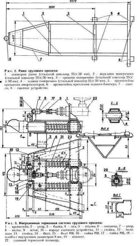 Изготовление прицепа для трактора пошаговая инструкция