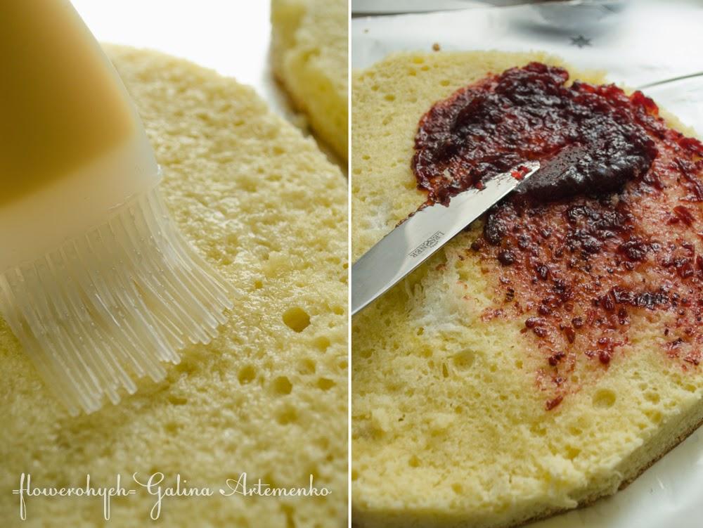 пропитывание бисквита и смородиновый джем