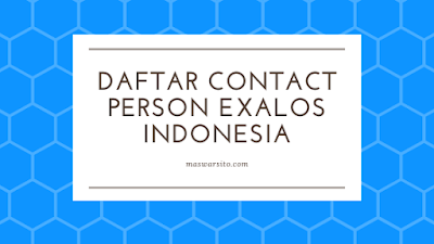 daftar nomer hp telepon contact person exalos indonesia