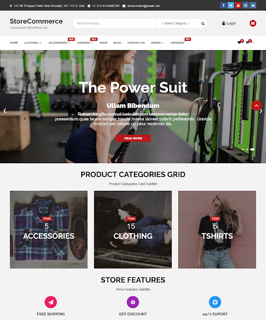 StoreCommerce | Top 10 Best Free Ecommerce Themes For WordPress Online Store