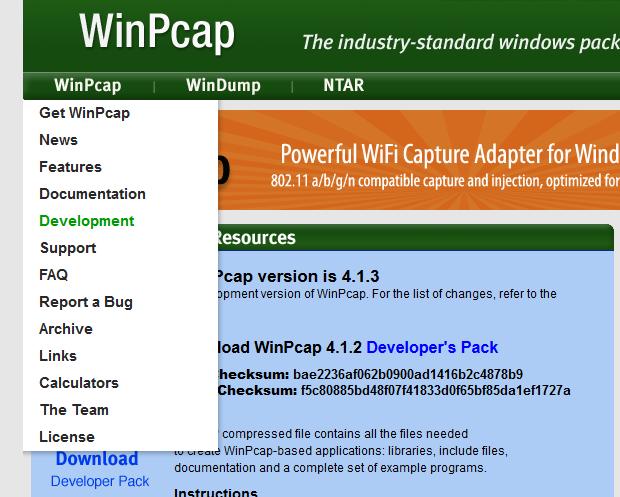 Windows'ta Winpcap (Packet Capture Library) Kullanımı ~ C