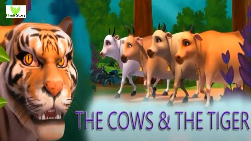 The Cows And The Tiger Moral Story For Kids