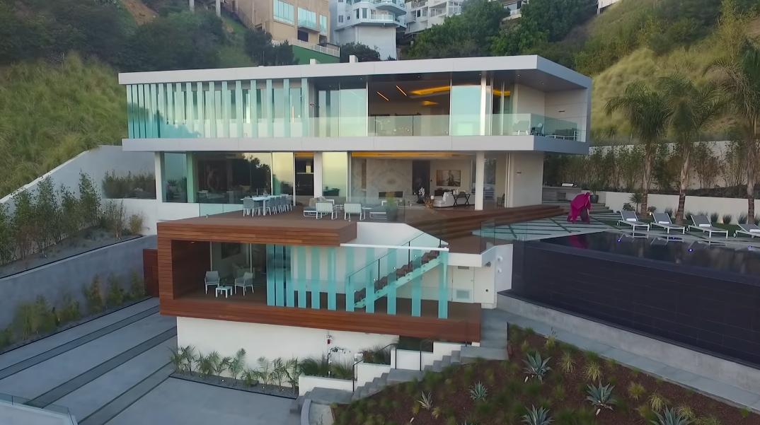 43 Interior Photos vs. Video Tour 1895 Rising Glen Rd, Los Angeles, CA Ultra Luxury Modern Mansion
