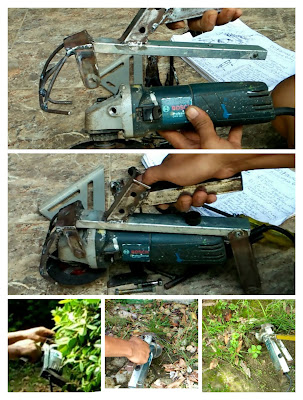 Gagag mesin potong rumput buatan sendiri