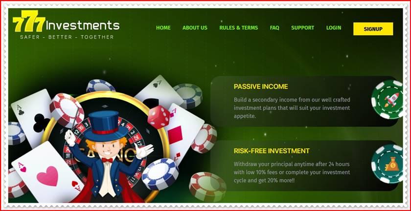Мошеннический сайт 777investments.com – Отзывы, развод, платит или лохотрон? Мошенники
