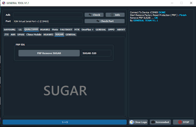 تخطي حساب قوقل اكونت لهواتف Sugar