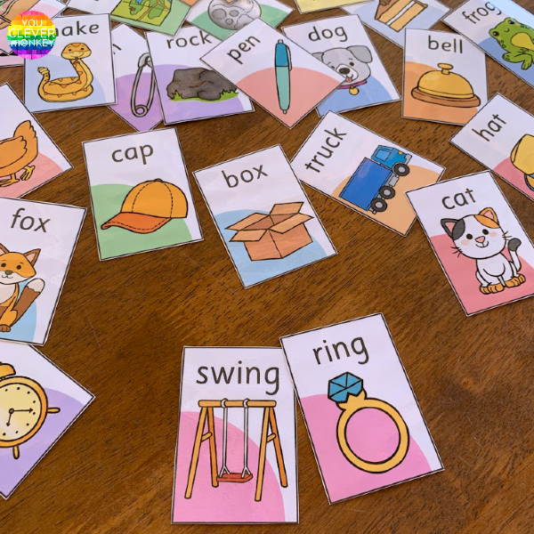 Pick A Partner - Rhyming Word Pack | you clever monkey