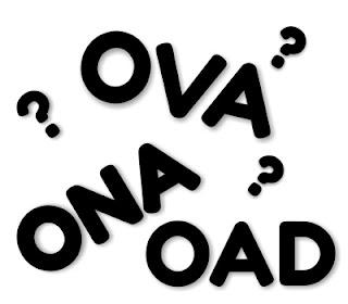 Arti anime ova, oav, ona, oad dan oda serta perbedaannya